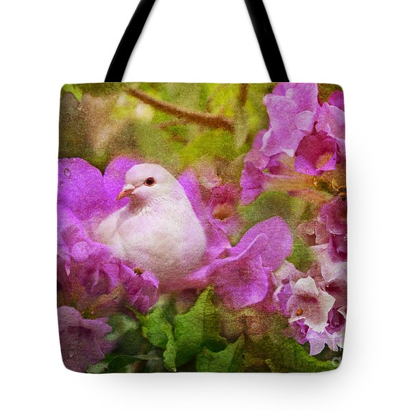 The Garden Of White Dove Tote Bag