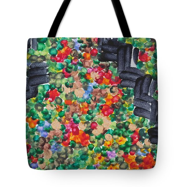 Tote Bag featuring the painting The Garden Path by Michele Myers