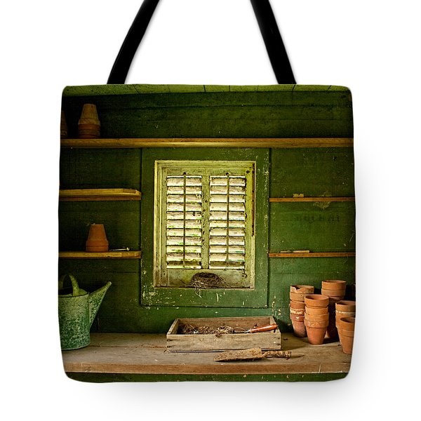 The Gardener's Shed Tote Bag