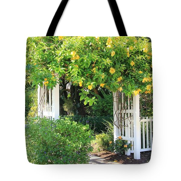 Tote Bag featuring the photograph The Gate by Rosalie Scanlon