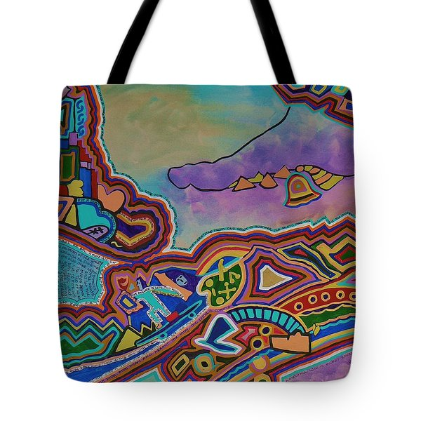 Tote Bag featuring the painting The Genie Is Out Of The Bottle by Barbara St Jean