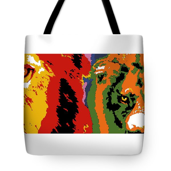 Tote Bag featuring the painting The Ghost And The Darkness by Dale Loos Jr