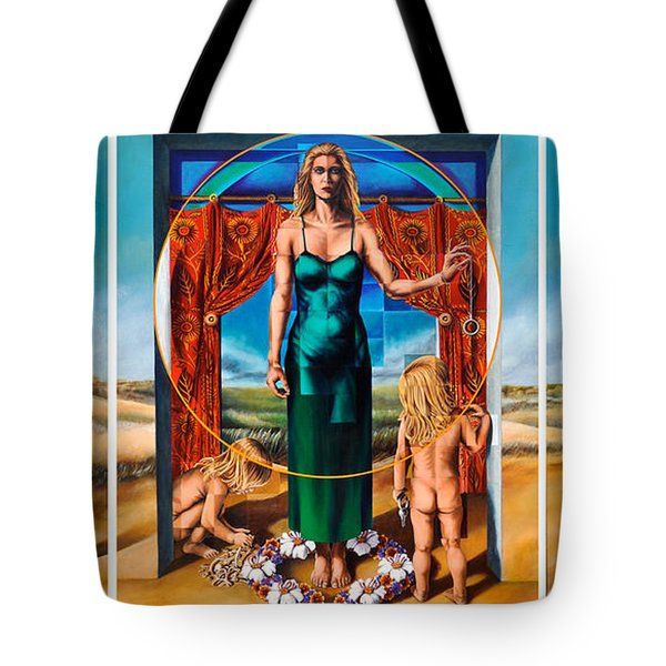 Tote Bag featuring the painting The Ghosts Of Infertility by Greg Skrtic