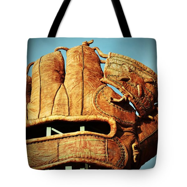 The Giants Glove Tote Bag by Holly Blunkall