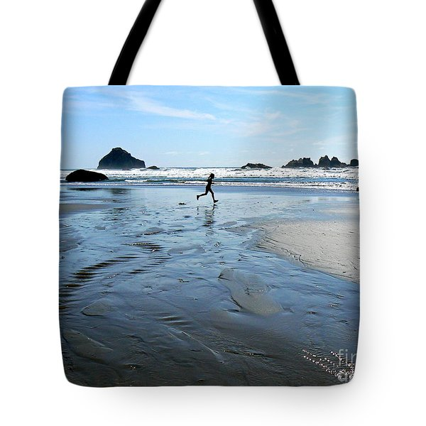 the Girl and the Ocean Tote Bag by Dona  Dugay