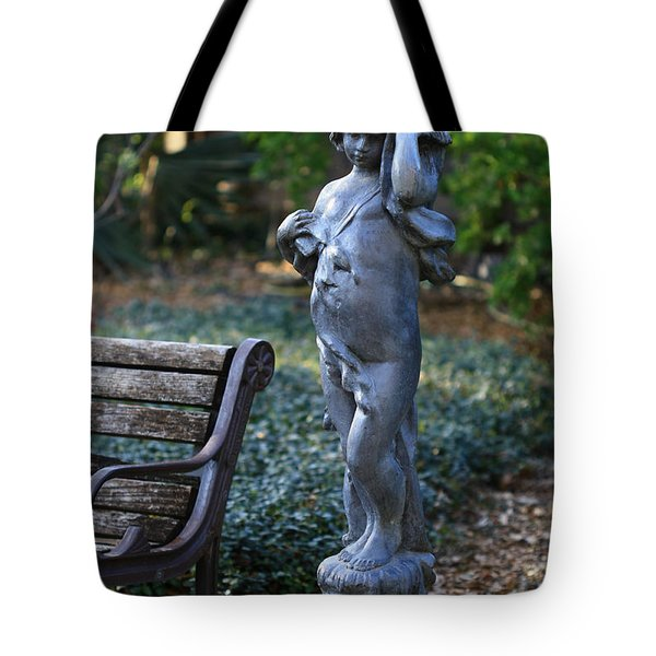 The Girl By The Bench Tote Bag