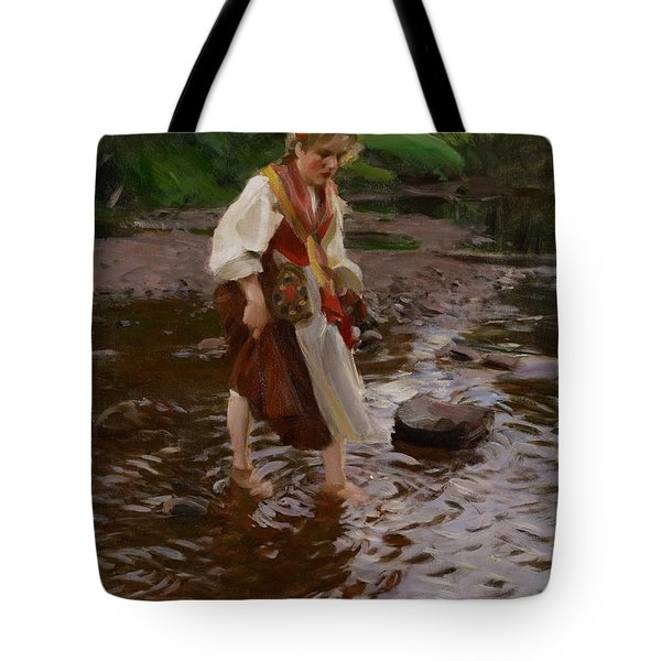 The Girl From Alvdalen Tote Bag by Anders Leonard Zorn
