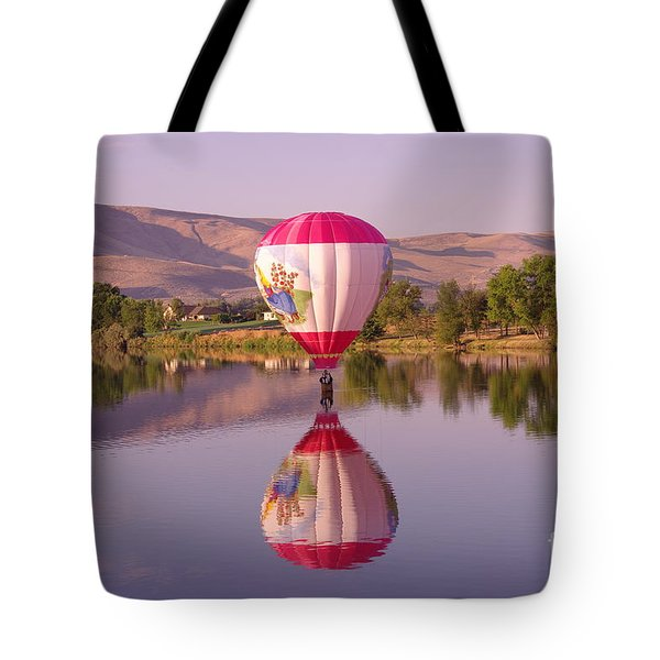 The Girl Lands  Tote Bag