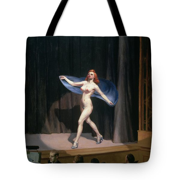 The Girlie Show Tote Bag by Edward Hopper