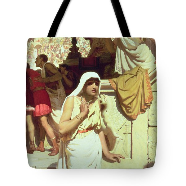 The Gladiators Wife Tote Bag by Edmund Blair Leighton