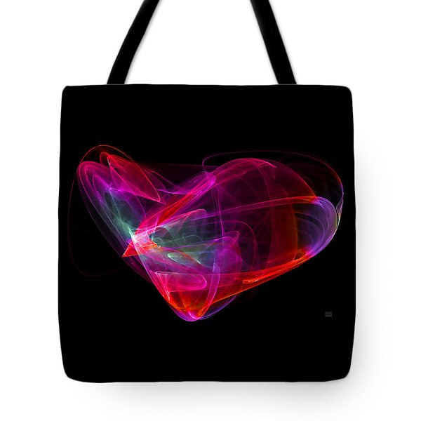 Tote Bag featuring the digital art The Glass Heart by Menega Sabidussi