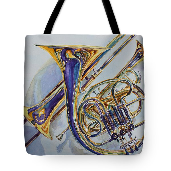 The Glow Of Brass Tote Bag by Jenny Armitage