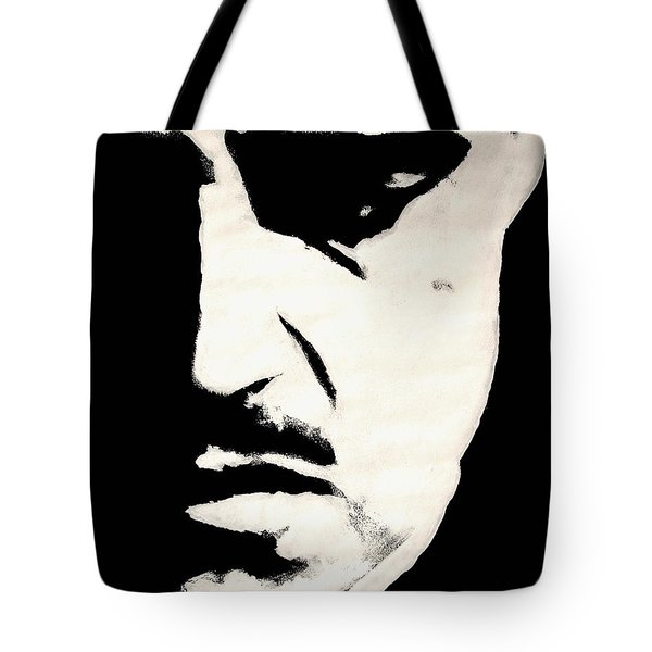 Tote Bag featuring the painting The Godfather by Dale Loos Jr