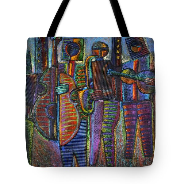 The Gods Of Music Come To New York Tote Bag by Gerry High