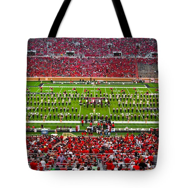 Tote Bag featuring the photograph The Going Band From Raiderland by Mae Wertz