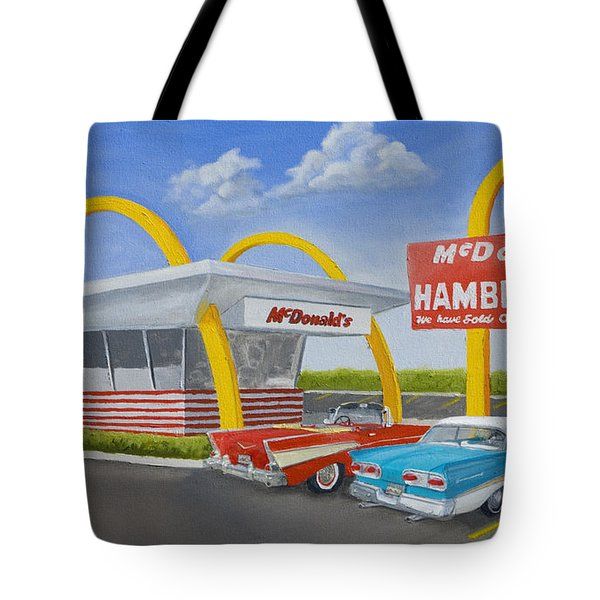 The Golden Age Of The Golden Arches Tote Bag by Jerry McElroy