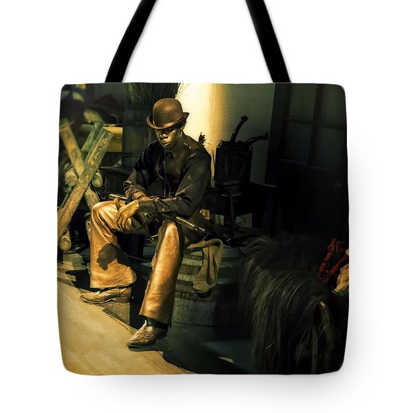 The Golden Cowboy Tote Bag by Diane Dugas
