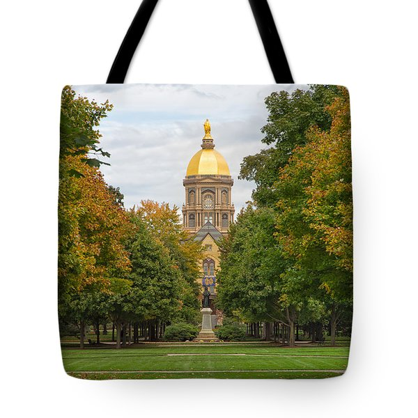The Golden Dome Of Notre Dame Tote Bag by John M Bailey