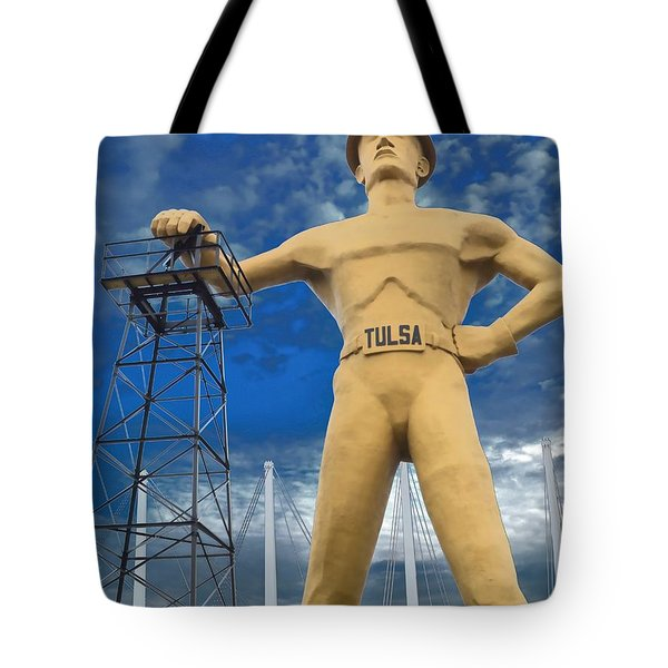 The Golden Driller - Tulsa Oklahoma Tote Bag