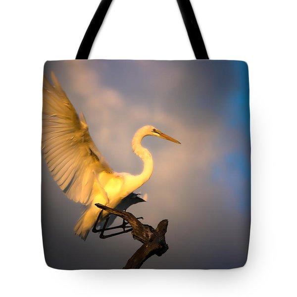 The Golden Egret Tote Bag