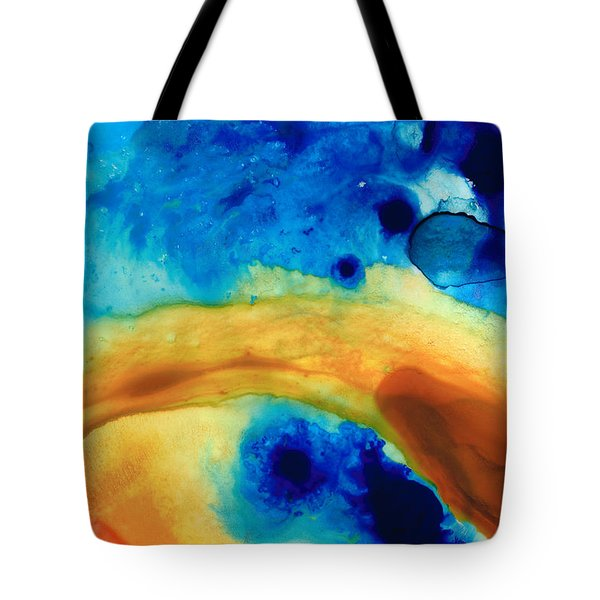 The Golden Gate - Abstract Art By Sharon Cummings Tote Bag