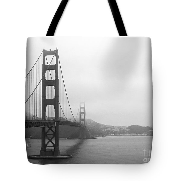 The Golden Gate Bridge In Classic B W Tote Bag