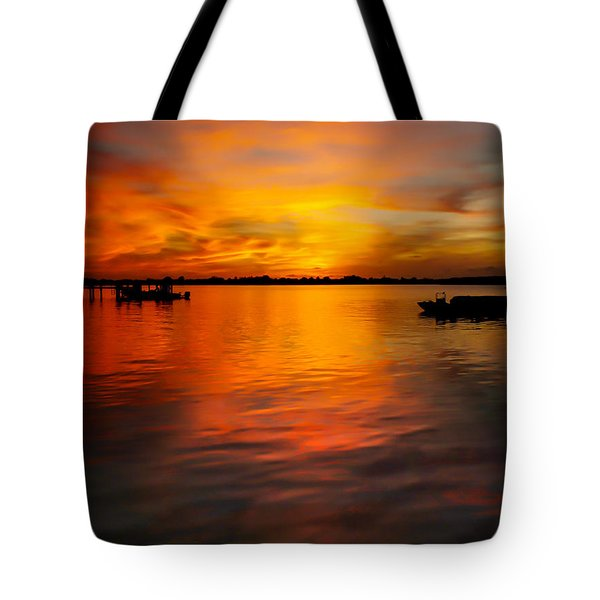 The Golden Hour Tote Bag by Karen Wiles