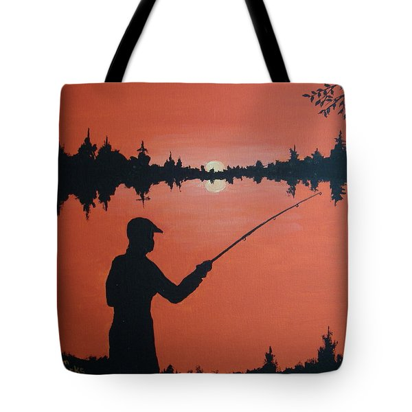Tote Bag featuring the painting The Golden Hour by Norm Starks