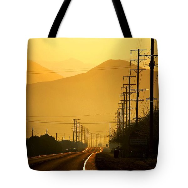 Tote Bag featuring the photograph The Golden Road by Matt Harang