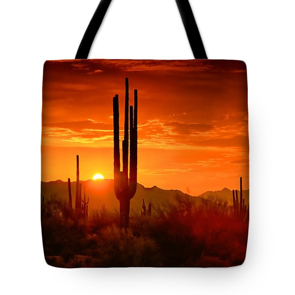 The Golden Southwest Skies  Tote Bag