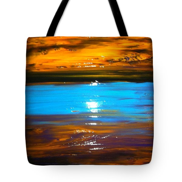 The Golden Sunset Tote Bag by Kicking Bear  Productions