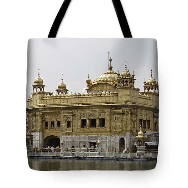 The Golden Temple In Amritsar Tote Bag