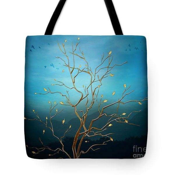 The Golden Tree Tote Bag by Peter Awax