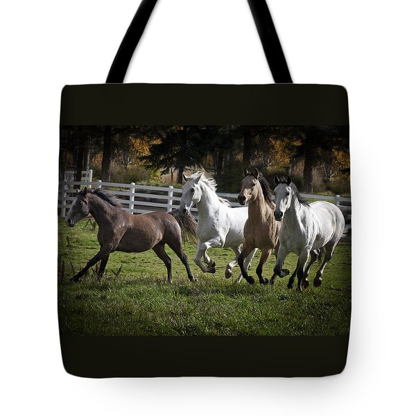 Tote Bag featuring the photograph The Goldendale Four 7277 by Wes and Dotty Weber