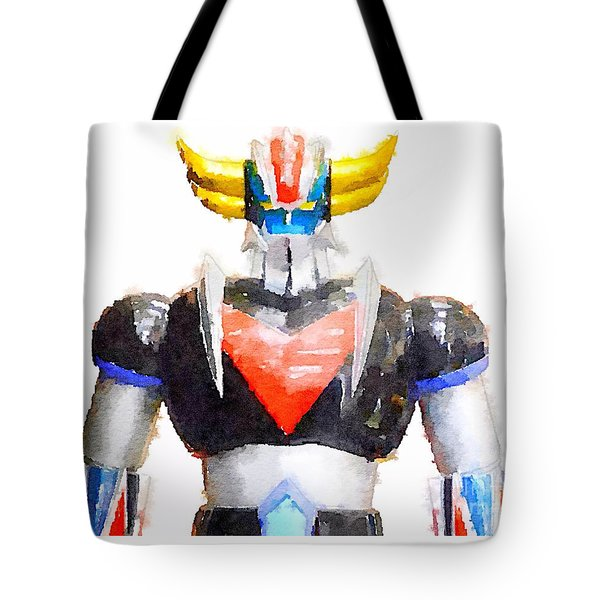 Tote Bag featuring the painting The Goldorak by Helge