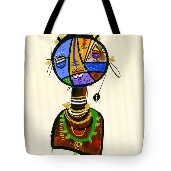 The Good Face Of Colours, 2013 Mixed Media On Card Tote Bag