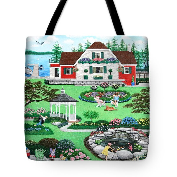 The Good Life Tote Bag by Wilfrido Limvalencia
