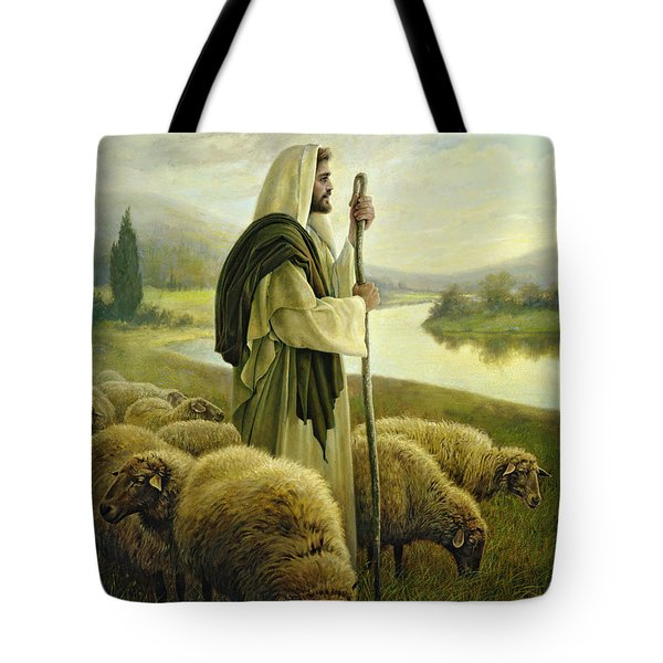 Tote Bag featuring the painting The Good Shepherd by Greg Olsen