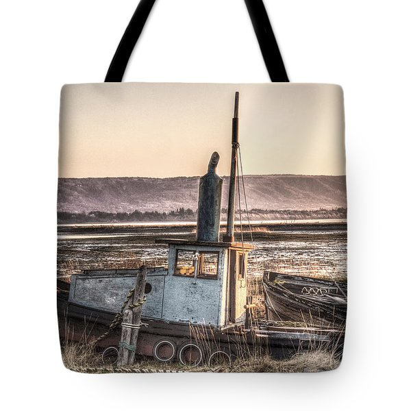 Tote Bag featuring the digital art The Good Ship Olive by William Fields