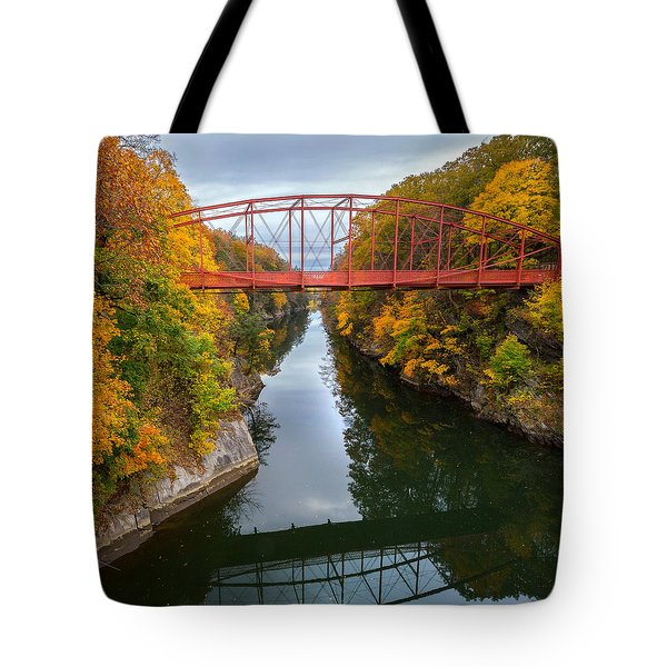 The Gorge Square Tote Bag by Bill Wakeley