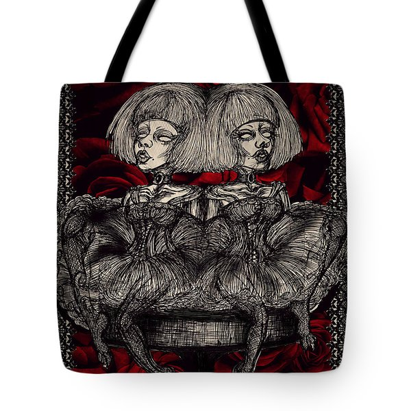 The Gothic Twin Girls Tote Bag