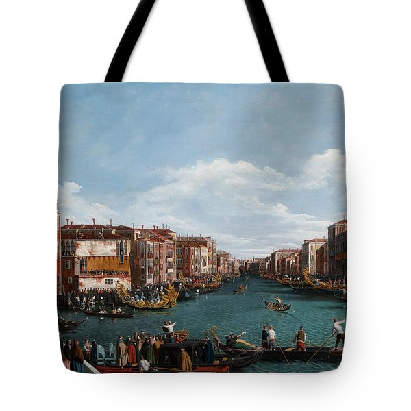 The Grand Canal At Venice Tote Bag by Antonio Canaletto