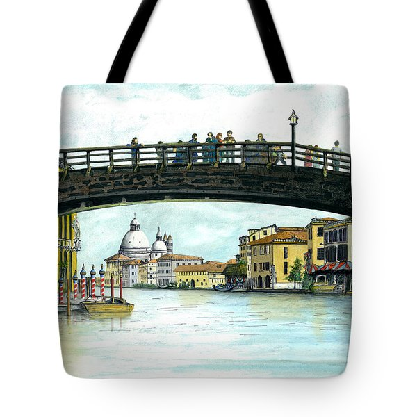 Tote Bag featuring the painting The Grand Canal Venice Italy by Albert Puskaric
