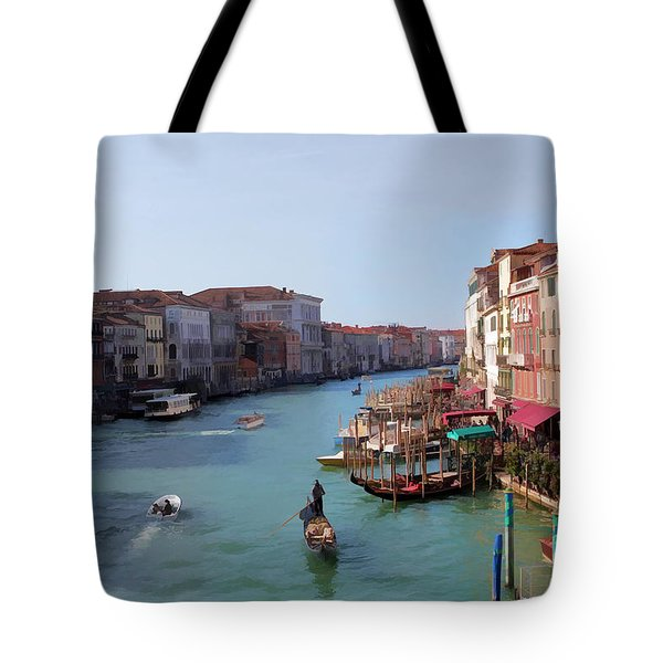 The Grand Canal Venice Oil Effect Tote Bag