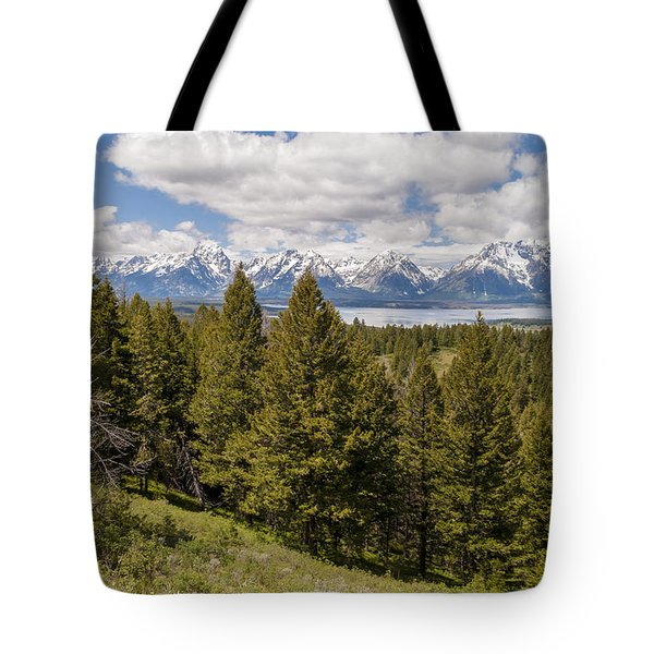 The Grand Tetons From Signal Mountain - Grand Teton National Park Wyoming Tote Bag by Brian Harig