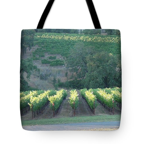 Tote Bag featuring the photograph The Grape Lines by Shawn Marlow