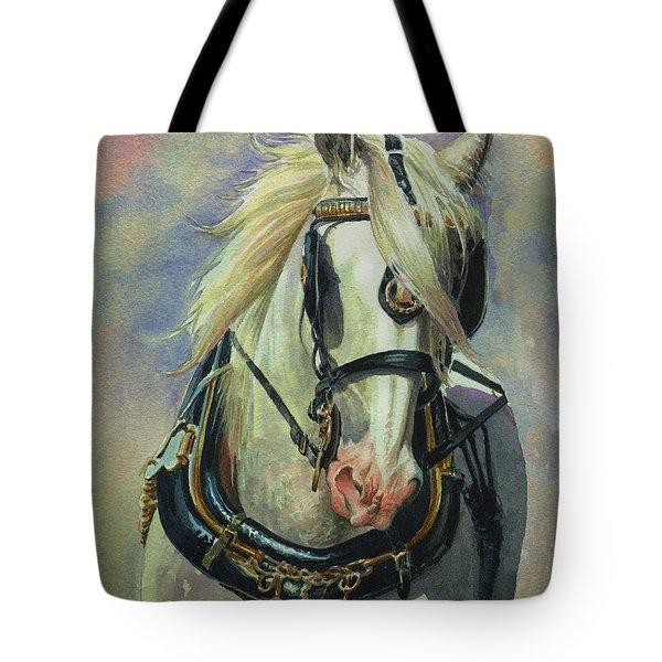 The Gray Shire Horse Tote Bag