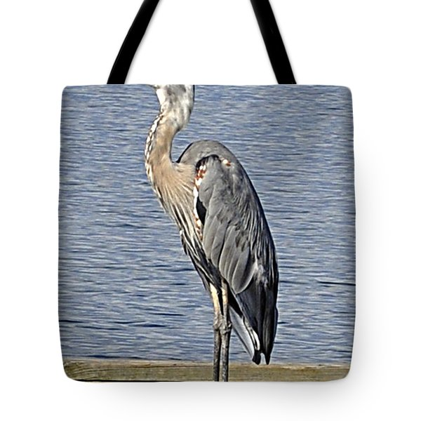 The Great Blue Heron Photo Tote Bag