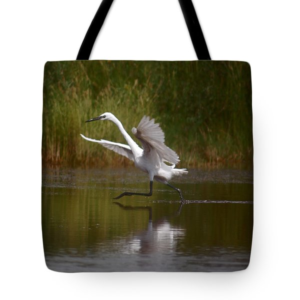 Tote Bag featuring the photograph The Great Egret by Leticia Latocki