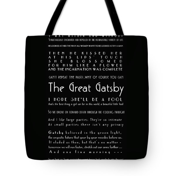 The Great Gatsby Quotes Tote Bag